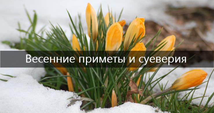 Весенние приметы и суеверия